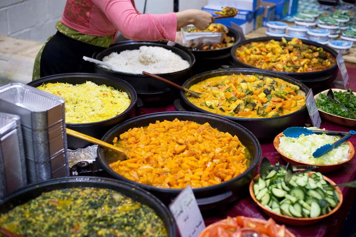 A sumptuous buffet illustrates the wide variety of flavors that are recognized by the tongue.