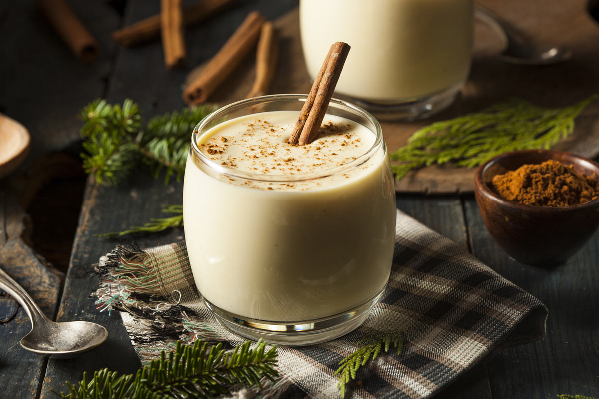 "Eggnog is one of the typical holiday treats that may pack a sugary ""punch."""