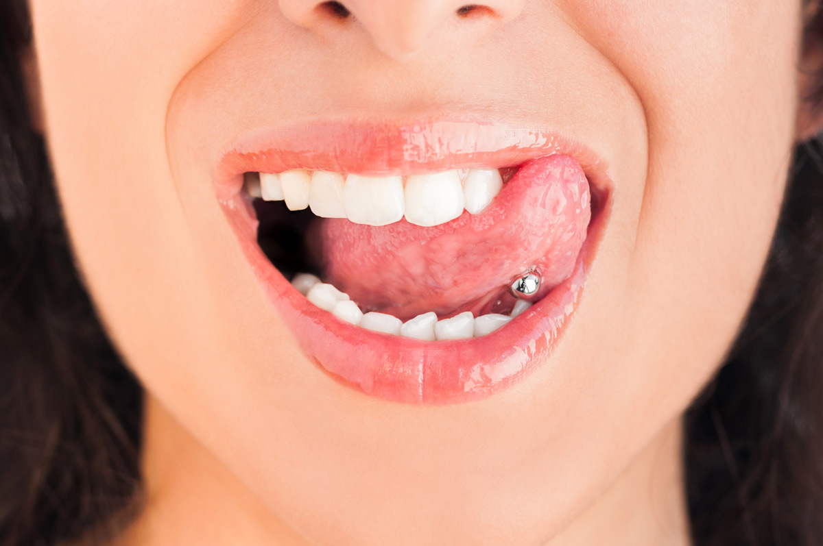 Oral piercings present risks, verified by the ADA and our Yuba City dentists.
