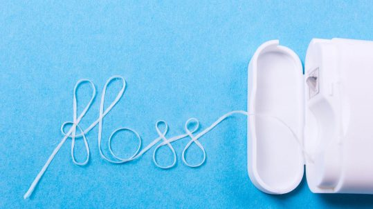 Dental floss is part of a good oral health regimen.